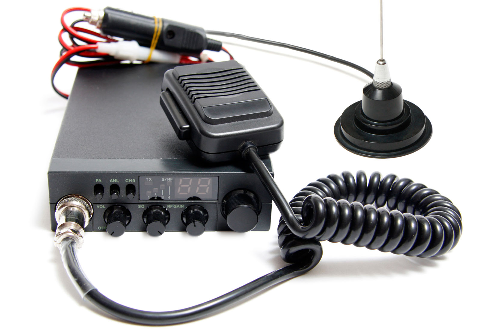CB radio with microphone